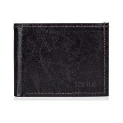 Portfele męskie: Elegancki brązowy skórzany męski portfel SOLIER  MAKENZIE