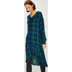 Answear - Koszula. Szare koszule damskie w kratkę marki ANSWEAR, l, z bawełny, casualowe, ze stójką, z długim rękawem. W wyprzedaży za 114,90 zł.