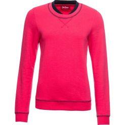 Bluza z podwójnym kołnierzem, długi rękaw bonprix różowy hibiskus. Czerwone długie bluzy damskie bonprix, z długim rękawem. Za 54,99 zł.