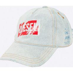 Diesel - Czapka. Szare czapki z daszkiem męskie Diesel, z bawełny. Za 319,90 zł.