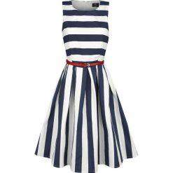 Dolly and Dotty Dark Blue Stripe Dress Sukienka niebieski/biały. Szare sukienki na komunię marki Sinsay, l, z dekoltem na plecach. Za 184,90 zł.