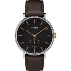 Timex - Zegarek TW2R38100. Czarne zegarki męskie marki Fossil, szklane. Za 399,90 zł.