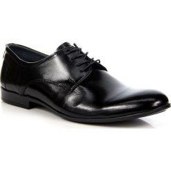 Derby męskie: Czarne półbuty męskie skórzane eleganckie Buster by Gregor 191