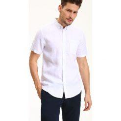 Koszule męskie na spinki: KOSZULA KRÓTKI RĘKAW MĘSKA REGULAR FIT