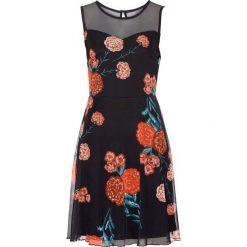 Sukienki hiszpanki: Sukienka z siatkowego materiału w kwiaty bonprix czarny w kwiaty