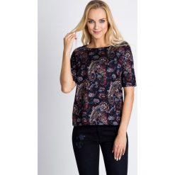 Bluzki damskie: Kubełkowa bluzka z orientalnym wzorem QUIOSQUE