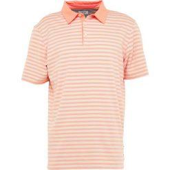 Adidas Golf PREMIUM BOLD STRIPE  Koszulka polo coral. Pomarańczowe koszulki polo adidas Golf, m, z bawełny. Za 419,00 zł.