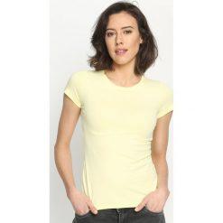 Bluzki, topy, tuniki: Żółty T-shirt Back To Basic
