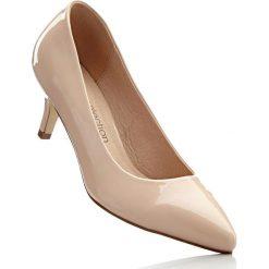 Czółenka bonprix cielisty. Brązowe buty ślubne damskie bonprix, na obcasie. Za 89,99 zł.