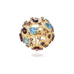 Sygnety męskie: Wyjątkowy Złoty Pierścionek – złoto żółte 750, Brązowy brylant 1,74…