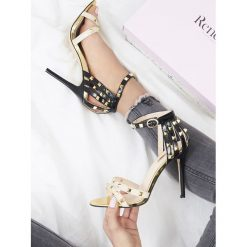 Sandały damskie: Beżowe Sandały Exemplary