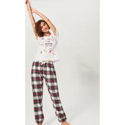 Dwuczęściowa piżama - Kremowy. Białe piżamy damskie marki Reserved, l. Za 99,99 zł.