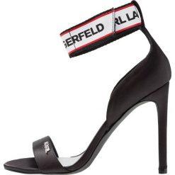 KARL LAGERFELD EXCLUSIVE GALA BAND STRAP Sandały na obcasie black. Czarne sandały damskie KARL LAGERFELD, z materiału, na obcasie. Za 739,00 zł.