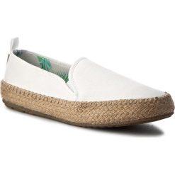 Espadryle EMU AUSTRALIA - Gum W11385 Coconut. Białe espadryle damskie marki EMU Australia, z materiału, na płaskiej podeszwie. W wyprzedaży za 199,00 zł.