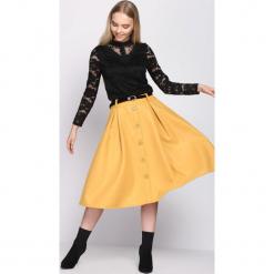 Żółta Spódnica Span. Żółte spódniczki Born2be, l, midi. Za 99,99 zł.