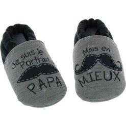 Buciki niemowlęce chłopięce: Buty niemowlęce w kolorze szarym