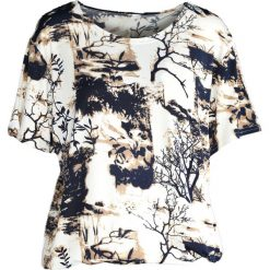 T-shirty damskie: Beżowy T-shirt Wallpaper