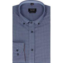 Koszula bexley 2227 długi rękaw custom fit granatowy. Niebieskie koszule męskie jeansowe Recman, m, button down, z długim rękawem. Za 69,99 zł.