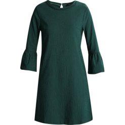 Sukienki hiszpanki: Cortefiel DRESS WITH DETAIL IN COLLAR AND FLARED CUFFS Sukienka letnia dark green