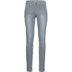Dżinsy SKINNY z paskami bonprix ciemnoniebieski w paski. Niebieskie jeansy damskie skinny bonprix, w paski, z jeansu. Za 129,99 zł.