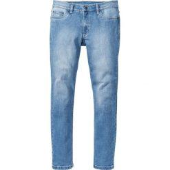 """Dżinsy ze stretchem Slim Fit Straight bonprix niebieski """"bleached used"""". Niebieskie jeansy męskie relaxed fit marki bonprix, z jeansu. Za 59,99 zł."""