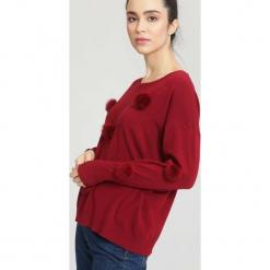 Bordowy Sweter Appoint Somebody. Czerwone swetry klasyczne damskie other, na jesień, uniwersalny. Za 54,99 zł.