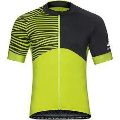 Odlo Koszulka rowerowa Stand-up collar s/s full zip Umbrail Ceramicool r. M (411452). Żółte odzież rowerowa męska marki Odlo, m. Za 221,15 zł.