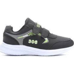 Czarne Buty Sportowe Construct. Czarne buciki niemowlęce Born2be, z okrągłym noskiem, na obcasie, na rzepy. Za 49,99 zł.