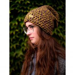 Czapka Hand Made No. 044 / beanie / szydło. Brązowe czapki zimowe damskie Pakamera. Za 99,00 zł.