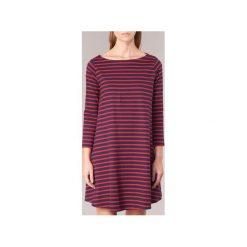 Sukienki krótkie Petit Bateau  LORNA. Czerwone sukienki hiszpanki Petit Bateau, s, z krótkim rękawem, mini. Za 439,20 zł.
