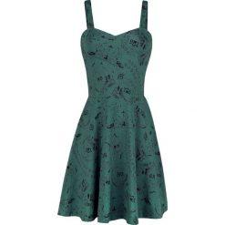 Jawbreaker Oujia Print Caged Back Skater Dress Sukienka niebieski (Petrol). Niebieskie sukienki z falbanami Jawbreaker, s, z nadrukiem, z jersey. Za 244,90 zł.