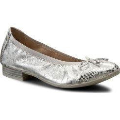 Baleriny CAPRICE - 9-22159-28 Silver Metal. 920. Szare baleriny damskie lakierowane Caprice, z nubiku, na obcasie. W wyprzedaży za 199,00 zł.