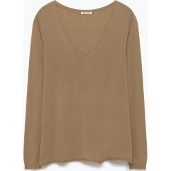"""T-shirty damskie: Koszulka """"Bloomington"""" w kolorze jasnobrązowym"""