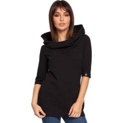 ABBY Bluza z krótkim rękawem i kapturem - czarna. Czarne bluzy damskie BE, l, z krótkim rękawem, krótkie. Za 129,99 zł.