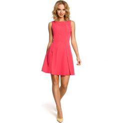 ROSE Gładka sukienka bez rękawów - różowa. Czerwone sukienki hiszpanki Moe, bez rękawów, dopasowane. Za 179,90 zł.