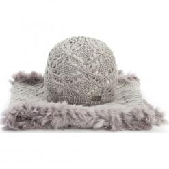 Komplet czapka + komin 87-SF-005-8. Brązowe czapki zimowe damskie Wittchen, na zimę, z dzianiny. Za 209,00 zł.