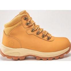 Skórzane buty trekkingowe - Beżowy. Brązowe buty trekkingowe męskie House. Za 229,99 zł.