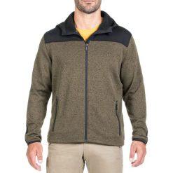 Bluzy męskie: Bluza w kolorze khaki-czarnym