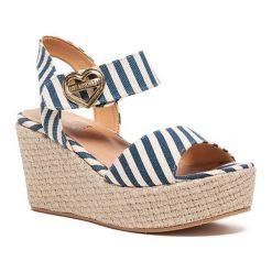 Sandały damskie: Sandały w kolorze biało-niebieskim
