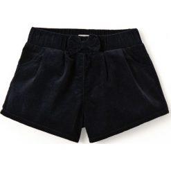 Szorty welurowe, 1 mies. - 3 lata. Czarne spodenki dziewczęce marki La Redoute Collections, z bawełny, klasyczne. Za 83,96 zł.