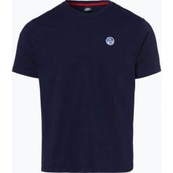 North Sails - T-shirt męski, niebieski. Niebieskie t-shirty męskie North Sails, l, z aplikacjami, z bawełny. Za 149,95 zł.