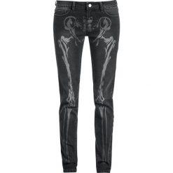 Spodnie damskie: Full Volume by EMP Bone Skarlett (Slim Fit) Jeansy damskie czarny