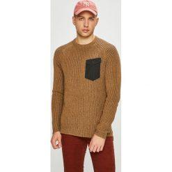 Only & Sons - Sweter. Brązowe swetry klasyczne męskie Only & Sons, l, z bawełny, z okrągłym kołnierzem. Za 169,90 zł.