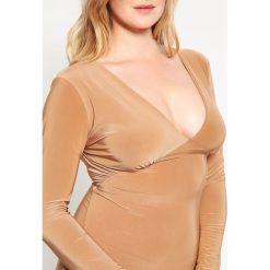 Sukienki hiszpanki: Missguided Plus Sukienka z dżerseju camel
