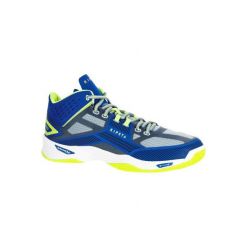 Buty do siatkówki V500 mid męskie, kolor niebieski. Niebieskie buty do siatkówki męskie marki KIPSTA, z kauczuku. Za 199,99 zł.