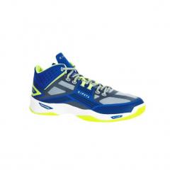 Buty do siatkówki V500 mid męskie, kolor niebieski. Niebieskie buty do siatkówki męskie marki ARTENGO, z gumy. Za 199,99 zł.