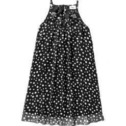 Sukienki dziewczęce: Sukienka szyfonowa bonprix czarno-biały