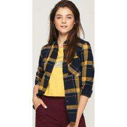 Koszula w kratę - Żółty. Żółte koszule damskie marki Sinsay, l. W wyprzedaży za 29,99 zł.
