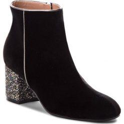 Botki POLLINI - SA21116G16TK100A W.Ankle B. Czarne buty zimowe damskie Pollini, z materiału, na obcasie. Za 1749,00 zł.