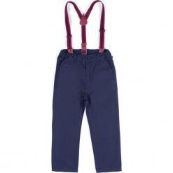 Spodnie. Niebieskie chinosy chłopięce ELEGANT BABY BOY, z bawełny. Za 49,90 zł.